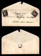 FRANCIA - Bustina Da Metz Del 21.4.49 Con Due 20 Cent (3) Applicati A Cavallo Del Bordo Superiore - Stamps