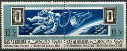 EAU - Ras Al Khaïmah 1969 Y&T N°(1) - Michel N°299 à 300  *** - 2x10d Timbres Des USA - Ras Al-Khaima