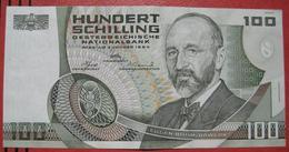 100 Schilling 2.1.1984 (WPM 150) / Eugen Böhm Von Bawerk - Akademie Der Wissenschaften Wien - Austria