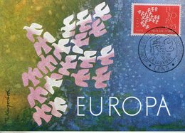 France. Carte Maximum. Europa 1961. Jumelage Philatélique Européen. Lens - 1960-69