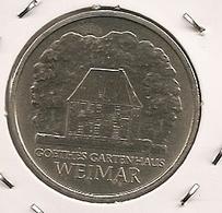 GERMANY ALLAMAGNE ALEMANHA 5 MARK 1982 Goethe's Weimar Cottage MTG 196 000-134 - 5 Mark