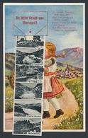 Leporello-AK Mariazell, Kleines Paar Beim Abschiedskuss, Hauptplatz, Schwebebahn, Bürgeralpe - Unclassified