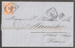 Lettre France N° 23 Napoléon GC 5080 Alexandrie  Egypte - 1849-1876: Période Classique