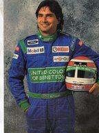 Nelson Piquet  -  Benetton-Ford - Pilote F1    - Carte Postale - Grand Prix / F1