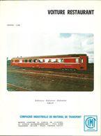 """4480 """"VOITURE RESTAURANT-DINING CAR-S.N.C.F.-C.ie INDUSTRIELLE DE MATERIEL DE TRANSPORT-LORRAINE"""" ORIGINALE - Railway"""