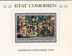 COMORES  500Fr  **   BLOC  BI-CENTENAIRE ETATS-UNIS  IMPERFORED  / 3 - Comoros