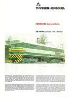 "4481 ""HENSCHEL LOKOMOTIVEN DE 1650 (CLASS CC 1700)-SENEGAL"" ORIGINALE - Railway"