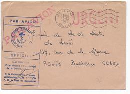 1978 - REUNION - ENVELOPPE FM Par AVION De L'UNITE De MARINE à LE PORT => BORDEAUX - NAVAL - Réunion (1852-1975)