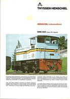 """4482 """"HENSCHEL LOKOMOTIVEN DHG 400 (CLASS 36)-UGANDA"""" ORIGINALE - Railway"""