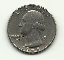 1968 - Stati Uniti 1/4 Dollar - 1932-1998: Washington
