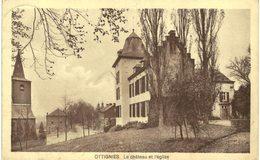 OTTIGNIES  Le Château Et L ' église. - Ottignies-Louvain-la-Neuve
