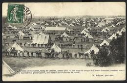 CPA Guerre-BIVUAC DE CAVALERIE,CAMP DE CHALONS ,AVANT 1870 - Manöver