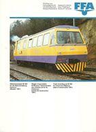 """4483 """"FFA-GLEISMESSWAGEN M 462-WAGON D'AUSCULATION-TRACK RECORDING"""" ORIGINALE - Railway"""