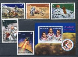 Fujeira  1972 Mi # 833 A - 837 A + BLOCK 89 A SPACE APOLLO 15 MNH - Fujeira