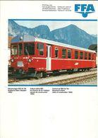 """4484 """"FFA-STEUERWAGEN BDt FUR DIE RHATISCHE BAHN(BAUJAHR 1982)-VOITURE PILOTE-CONTROL CAR"""" ORIGINALE - Ferrovie"""