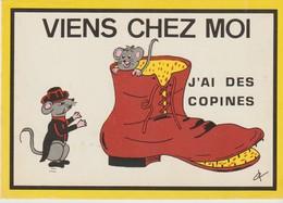 C. P.  - VIENS CHEZ MOI J'AI DES COPINES - VIEILLE GODASSE ET SOURIS - SNYPA - 712 - Humor