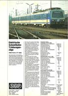 """4486 """"S-G-P ELEKTRISCHE SCHNELLBAHN-TRIEBWAGEN-ZUGE-OBB-REIHE ET 4020"""" ORIGINALE - Ferrovie"""