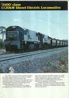 "4487 ""CLYDE ENGINEERING-2400 CLASS - 1120 KW DIESEL ELECTRIC LOCOMOTIVE"" ORIGINALE - Railway"