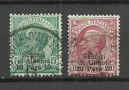 ALBANIA ITALYAN Occupation 1909 Michel 15 - 16 O - Albanie
