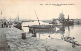11 - La Nouvelle - Port-la-Nouvelle, La Drague (bâteau) (oblit. Cad Octogonal Ambulant Cerbère à Narbonne) - Port La Nouvelle