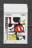 FRANCE / 2018 / Y&T N° 5259 ** : Mickey BdF Haut - Gomme D'origine Intacte - France