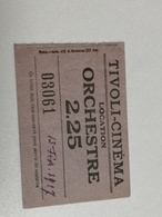Limoges, TIVOLI CINEMA, Ticket Orchestre  1927 - Tickets - Vouchers