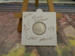 Monnaies - 50 Centimes Argent (La Semeuse) 1915 - - G. 50 Centimes