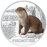 Oostenrijk 2019     3 Euro Zilver  Otter - Loutre  Gekleurd  Collorée  !! - Autriche
