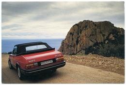 ADVERTISING : SAAB 900 CABRIOLET / POSTMARKS - TROLLHATTAN, SWEDEN & FELTHAM (CRAIG SHERGOLD) (10 X 15cms Approx.) - Passenger Cars