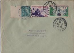 LETTRE AFFRANCHISSEMENT MIXTE     VOIR LE SCAN - Marcophilie (Lettres)