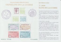 France 2018 Bloc Orphelins F5226 Neuf ** MNH Dans Sa Pochette D'origine - Sheetlets
