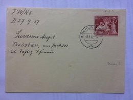 GERMANY 1942 Piece Berlin To Probstau Poland - Briefe U. Dokumente