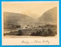 Suisse Valais * Brigue - Photo Albumine 1881 - Voir Scans - Foto