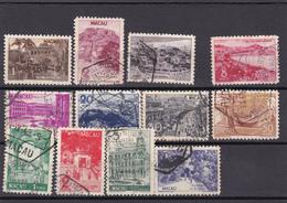 Portugal -macau Usados -327 Ao 338 - Lotes & Colecciones