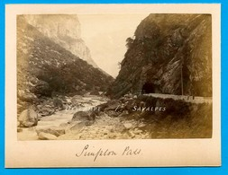 Suisse Valais Brigue * Route Col Du Simplon - Photo Albumine 1881 - Voir Scans - Foto