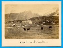 Suisse Valais Brigue * Hospice Col Du Simplon - Photo Albumine 1881 - Voir Scans - Foto