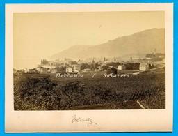 Suisse Léman * Vevey Vue Générale - Photo Albumine 1881 - Voir Scans - Photos