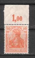 Reich Variété Du N° 120 Neuf ** Michel N° 141 P OR - Ungebraucht