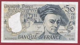 """50 Francs """"Quentin De La Tour"""" 1990 ---XF/SUP+----ALPH.C.61 - 1962-1997 ''Francs''"""