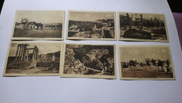 6 Cartes Constantine Laghouat Guerrara Djemila Gare Touggourt Colomb Béchar Cachet Compagnie Générale Transatlantique - Algérie