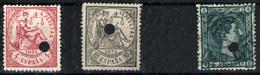 España Nº 151/52T Y 170. Año 1875/76 - 1875-1882 Kingdom: Alphonse XII