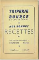 Triperie De La Bourse, Bruxelles. J.Schueremans. Bonnes Recettes. - Gastronomie