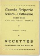 Triperie Sainte -Catherine, Bruxelles, Maison Boon. Recettes De La Maison. - Gastronomie