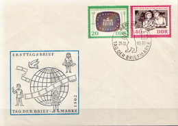 Germany / DDR Pair On FDC - Stamp's Day