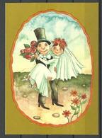 Soviet ESTONIA Estland 1983 Wedding Card Hochzeit Unused NB! Some Tape/Klebestoff - Hochzeiten