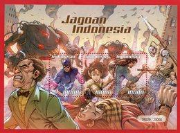 INDONESIA 2019-4 INDONESIAN COMIC HEROES CARTOON MS MINI SHEET STAMPS MNH - Indonesia