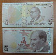 AC - TURKEY -  TURKEY 9thEMISSION 5TL A 067 14 14 14 UNCIRCULATED - Turkey
