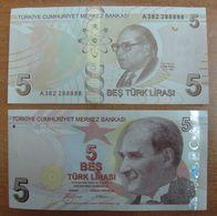 AC - TURKEY -  TURKEY 9thEMISSION 5TL A 382 2 88888 RADAR UNCIRCULATED - Turkey