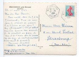 CP - CACHET : WALDERSBACH SUR CARTE POSTALE FREUDENECK Près Belmont - Postmark Collection (Covers)