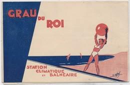 Dépliant Publicité 3 Volets Syndicat D' Initiative - Station Climatique Et Balnéaire -  GRAU-du-ROI-sur-Mer - Publicités